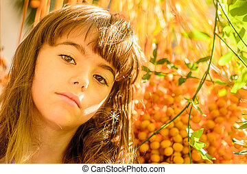 Beautiful seven year old girl - Portrait of a beautiful...