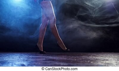 Beautiful sexual woman dancing. - Beautiful sexual woman...