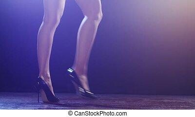 Beautiful sexual woman dancing.