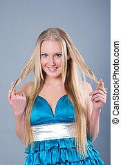 beautiful  sexy blond girl