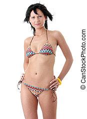 Beautiful sexy fit woman in bikini