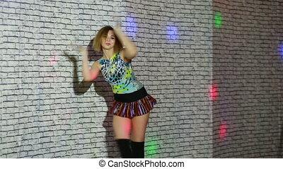 beautiful sexy girl dancing go go.