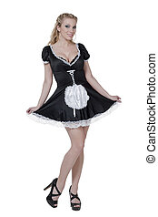 beautiful sexy maid - Full length portrait of beautiful sexy...
