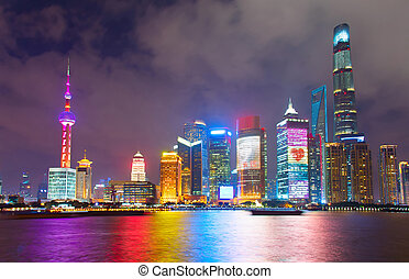 Beautiful Shanghai at night. China