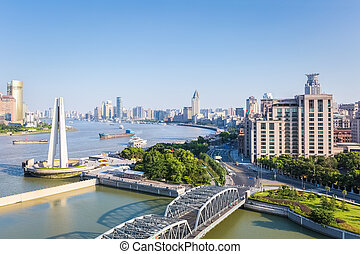 beautiful shanghai in afternoon