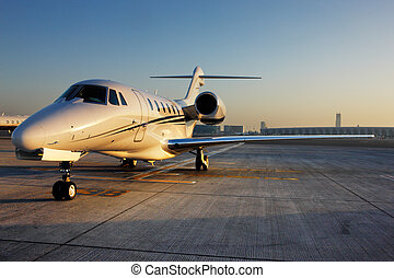 Beautiful shape of a private jet - The beautiful sculptural...