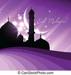 beautiful shiny eid mubarak design