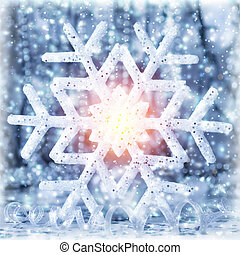 Beautiful shiny snowflake