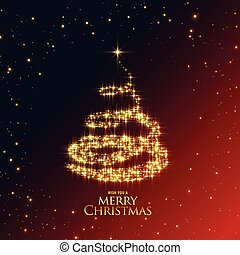 beautiful shiny sparkles christmas tree design