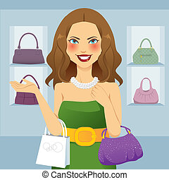 Beautiful Shopaholic Woman