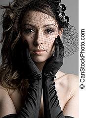 Stunning Brunette Model in Veil - Beautiful Shot of a ...