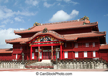 Shuri Castle - Beautiful Shuri Castle, in Okinawa, Japan, ...
