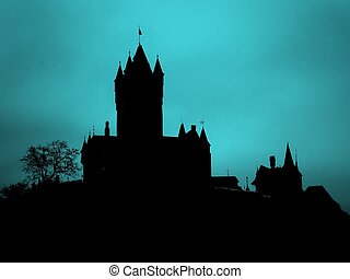 Beautiful Silhouette of Castle