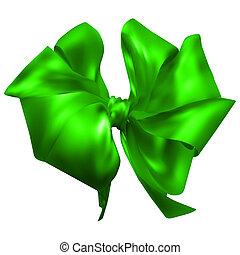 beautiful silk bow. vector illustration. 10 eps
