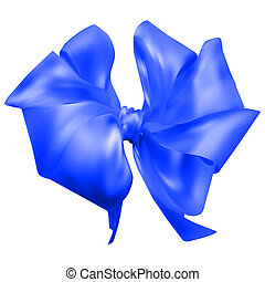 beautiful silk bow. vector illustration. 10 eps