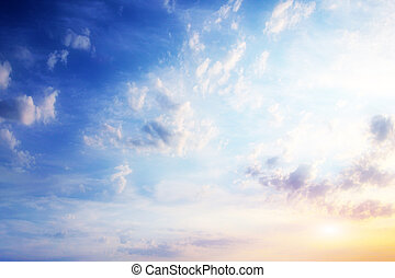 beautiful sky and clouds as celestial landscape