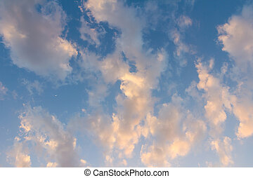 beautiful sky and clouds in the evening