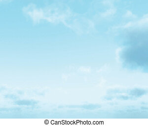 Beautiful sky illustration background