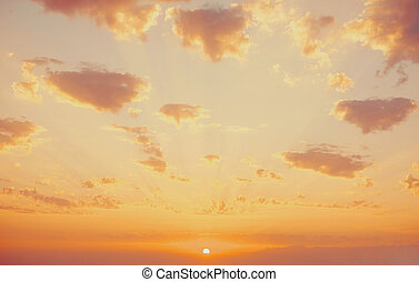 Beautiful sky in a colors of sunset.