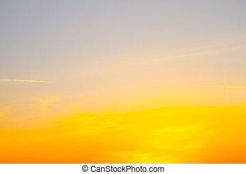 Beautiful sky of a sunset