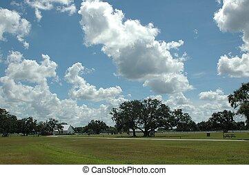 Beautiful Sky - Photographed at a ranch at River Ranch, ...