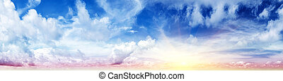 Beautiful sky. Summer art abstract sunrise