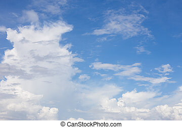 Beautiful sky with clouds for background.