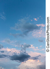 beautiful sky with clouds in the evening
