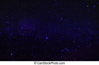Beautiful sky with stars at night