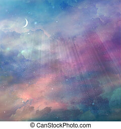 Beautiful sky with stars background