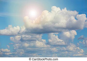 Beautiful Sky with Sun