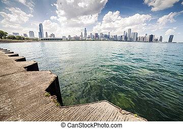 Beautiful skyline of Chicago, Illinois. - Beautiful skyline...