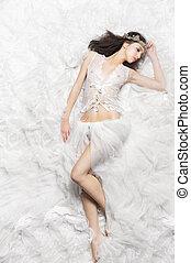 Beautiful Sleeping Princess Bride