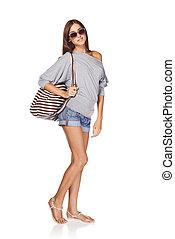 Beautiful slender girl