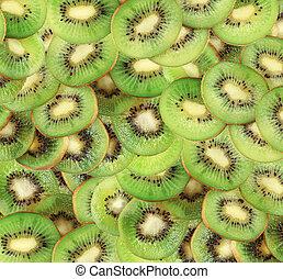 Beautiful slice of fresh juicy kiwi background
