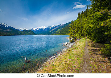 Beautiful Slocan Lake in interior British Columbia near the town of New Denver