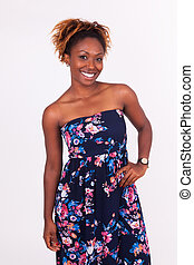 Beautiful smiling African American woman portrait