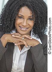Beautiful Smiling African American Woman Businesswoman