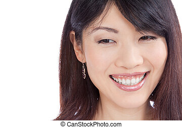 Beautiful Smiling Asian Woman