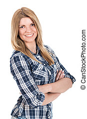 Smiling Blonde Female Student