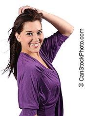 Beautiful Smiling Brunette Woman