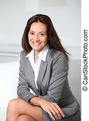 Beautiful smiling businesswoman