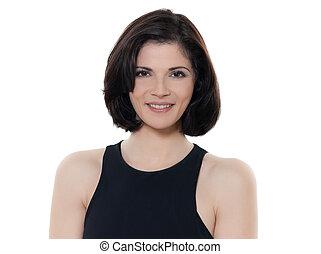 beautiful smiling caucasian woman portrait