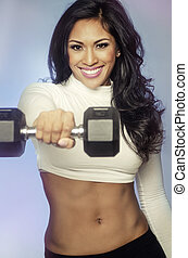 Beautiful smiling fitness woman