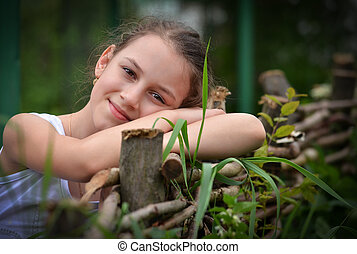 Beautiful smiling girl  closeup