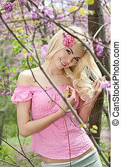 Beautiful smiling girl outdoor