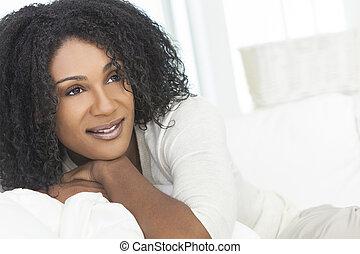 Beautiful Smiling Laughing African American Woman