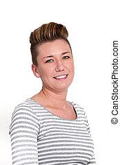 Beautiful smiling modern mature woman