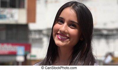Beautiful Smiling Teen Girl