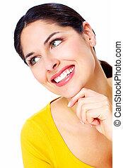 Beautiful smiling woman .